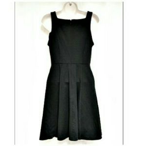 BB Dakota Dresses - BB Dakota Black Lattice Top Fit & Flare Dress Sz S